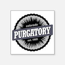 "Purgatory Ski Resort Colora Square Sticker 3"" x 3"""