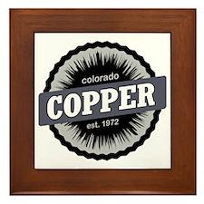 Copper Mountain Ski Resort Colorado Bl Framed Tile
