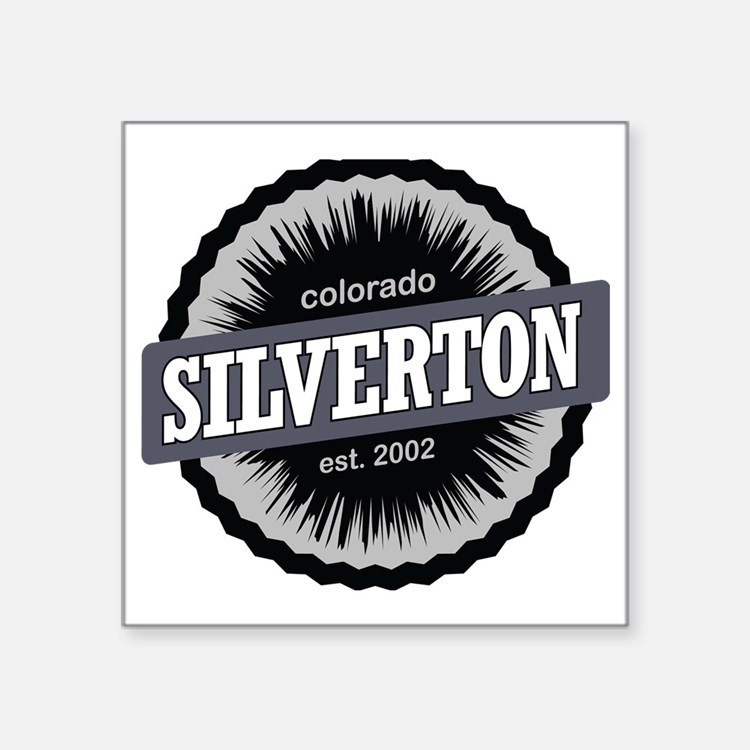 "Silverton Ski Resort Colora Square Sticker 3"" x 3"""