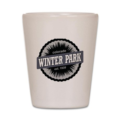 Winter Park Ski Resort Colorado Black Shot Glass