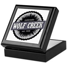 Wolf Creek Ski Resort Colorado Black Keepsake Box