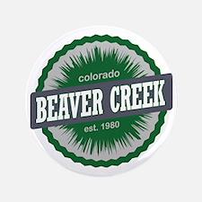 "Beaver Creek Ski Resort Colorado Green 3.5"" Button"