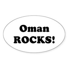 Oman Rocks! Oval Decal