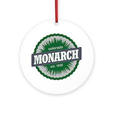 Monarch Ski Resort Colorado Green Round Ornament