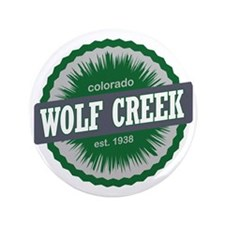 "Wolf Creek Ski Resort Colorado Green 3.5"" Button"
