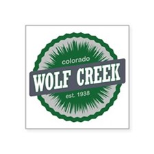 "Wolf Creek Ski Resort Color Square Sticker 3"" x 3"""