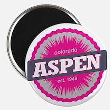 Aspen Ski Resort Colorado Pink Magnet