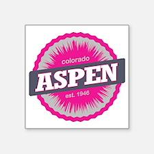 "Aspen Ski Resort Colorado P Square Sticker 3"" x 3"""