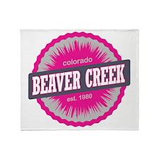 Beaver Creek Ski Resort Colorado Pin Throw Blanket