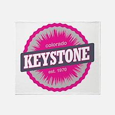 Keystone Ski Resort Colorado Pink Throw Blanket