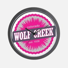 Wolf Creek Ski Resort Colorado Pink Wall Clock