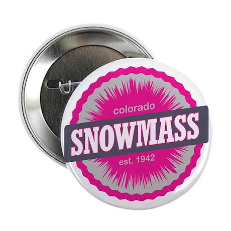 "Snowmass Ski Resort Colorado Pink 2.25"" Button"