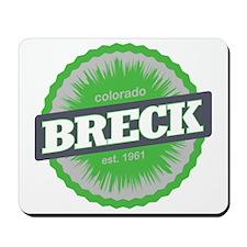 Breckenridge Ski Resort Colorado Lime Mousepad