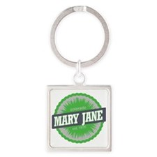 Mary Jane Ski Resort Colorado Lime Square Keychain