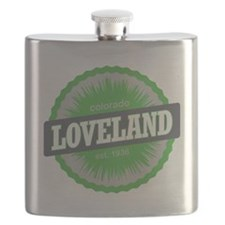 Loveland Ski Resort Colorado Lime Flask