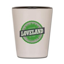 Loveland Ski Resort Colorado Lime Shot Glass