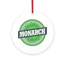 Monarch Ski Resort Colorado Lime Round Ornament
