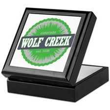Wolf Creek Ski Resort Colorado Lime Keepsake Box