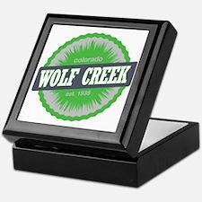 Wolf Creek Ski Resort Colorado Lime Keepsake Box