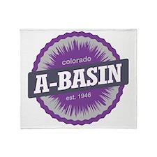 Arapahoe Basin Ski Resort Colorado P Throw Blanket