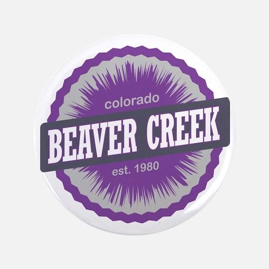 "Beaver Creek Ski Resort Colorado Purpl 3.5"" Button"