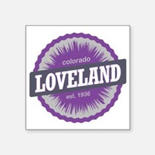"Loveland Ski Resort Colorad Square Sticker 3"" x 3"""