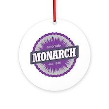 Monarch Ski Resort Colorado Purple Round Ornament
