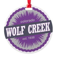 Wolf Creek Ski Resort Colorado Purp Ornament