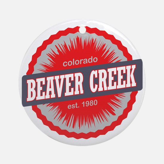 Beaver Creek Ski Resort Colorado Re Round Ornament