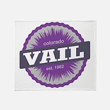 Vail Ski Resort Colorado Purple Throw Blanket