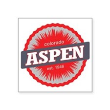 "Aspen Ski Resort Colorado R Square Sticker 3"" x 3"""
