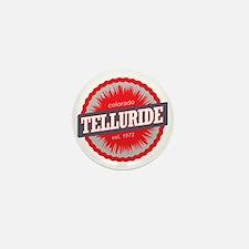 Telluride Ski Resort Colorado Red Mini Button