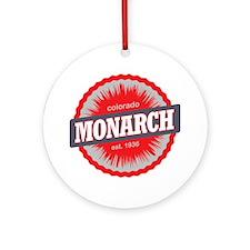 Monarch Ski Resort Colorado Red Round Ornament