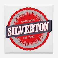 Silverton Ski Resort Colorado Red Tile Coaster