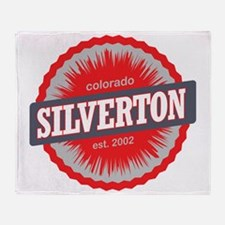 Silverton Ski Resort Colorado Red Throw Blanket