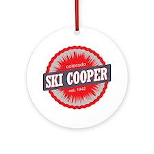 Ski Cooper Ski Resort Colorado Red Round Ornament