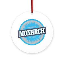 Monarch Ski Resort Colorado Sky Blu Round Ornament