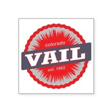"Vail Ski Resort Colorado Re Square Sticker 3"" x 3"""
