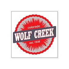"Wolf Creek Ski Resort Color Square Sticker 3"" x 3"""