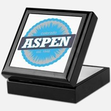 Aspen Ski Resort Colorado Sky Blue Keepsake Box