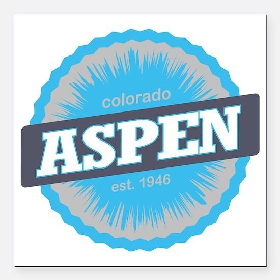"Aspen Ski Resort Colorad Square Car Magnet 3"" x 3"""