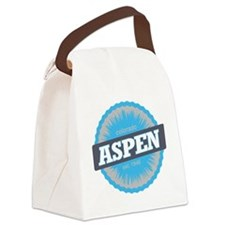 Aspen Ski Resort Colorado Sky Blu Canvas Lunch Bag