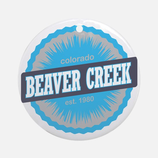Beaver Creek Ski Resort Colorado Sk Round Ornament