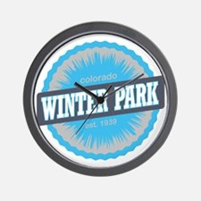 Winter Park Ski Resort Colorado Sky Blu Wall Clock