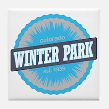 Winter Park Ski Resort Colorado Sky B Tile Coaster