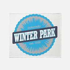 Winter Park Ski Resort Colorado Sky  Throw Blanket