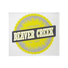 Beaver Creek Ski Resort Colorado Yel Throw Blanket