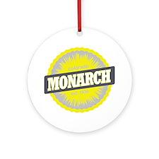 Monarch Ski Resort Colorado Yellow Round Ornament