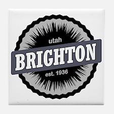 Brighton Ski Resort Utah Black Tile Coaster