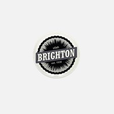 Brighton Ski Resort Utah Black Mini Button